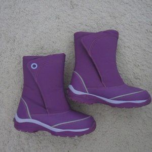 Land's End Winter Boots Size 3M Girls Purple Kids